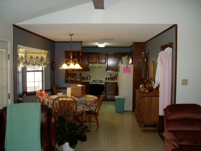 View of original kitchen before remodel