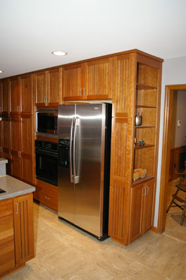 HomeCrest Bayport cherry cabinetry with semi custom options installed, improved floor plan.