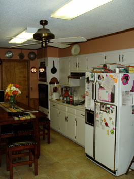 View of original kitchen.